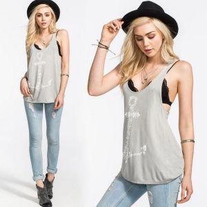 Stylish Lady Women's Fashion Casual Sexy Sleeveless Loose Print Tank Top Camisole