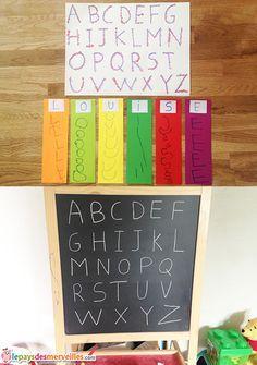 Louise adore l'alphabet. Depuis longtemps elle s'amuse à le réciter et depuis l'année dernière elle prend beaucoup de plaisir à l'écrire. Elle nous demande de lui épeler des mots pour pouvoir les écrire seule. Cet été, elle a même écrit... Lire la suite →