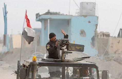 Les forces armées irakiennes dansle centrede  Ramadi, le27 décembre.(Les forces irakiennes libèrent Ramadi de Daech la reconquête de cette ville sunnite a été réalisée sans l'aide des milices chiites