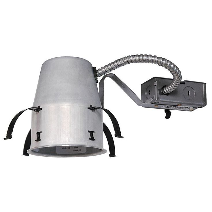 Juno Lighting IC1 LEDT24 4-Inch IC rated New Construction Recessed Housing for Juno Basic Retrofits (Aluminum), Silver