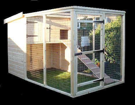 An outdoor cat house.