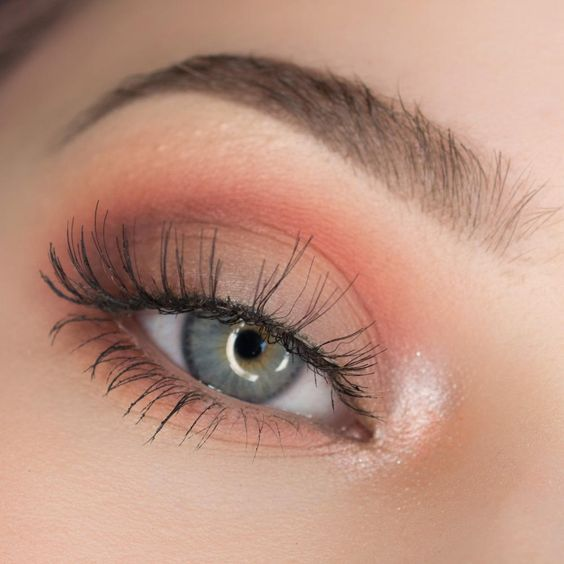 Peach Smooth Eye Makeup!  Peach Wedding | Peach Bridal Earrings | Peach Wedding Jewelry | Spring wedding | Spring inspo | Peach | Silver | Spring wedding ideas | Spring wedding inspo | Spring wedding mood board | Spring wedding flowers | Spring wedding formal | Spring wedding outdoors | Inspirational | Beautiful | Decor | Makeup |  Bride | Color Scheme | Tree | Flowers | Wedding Table | Decor | Inspiration | Great View | Picture Perfect | Cute | Candles | Table Centerpiece | Peach Themed…