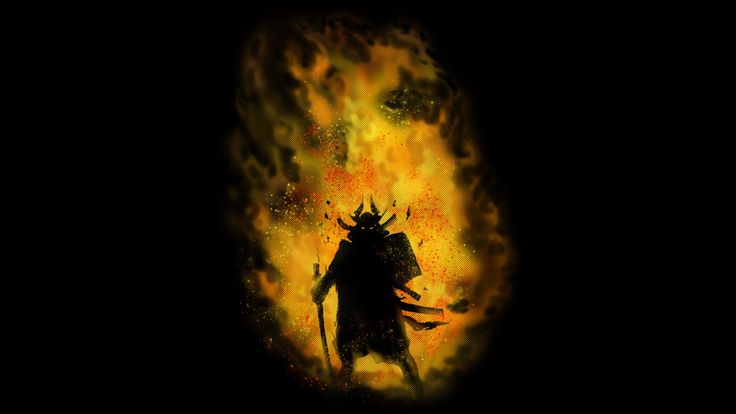 Samurai on Fire is a T Shirt designed by griffin45nn9z to illustrate your life and is available at Design By Humans
