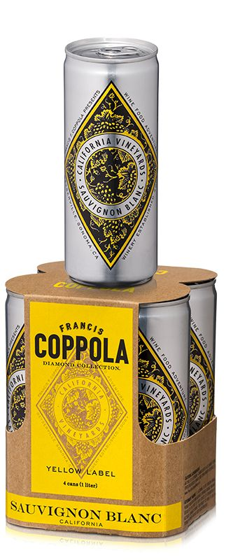 Francis Ford Coppola Winery - Diamond Collection Yellow Label Sauvignon Blanc Cans