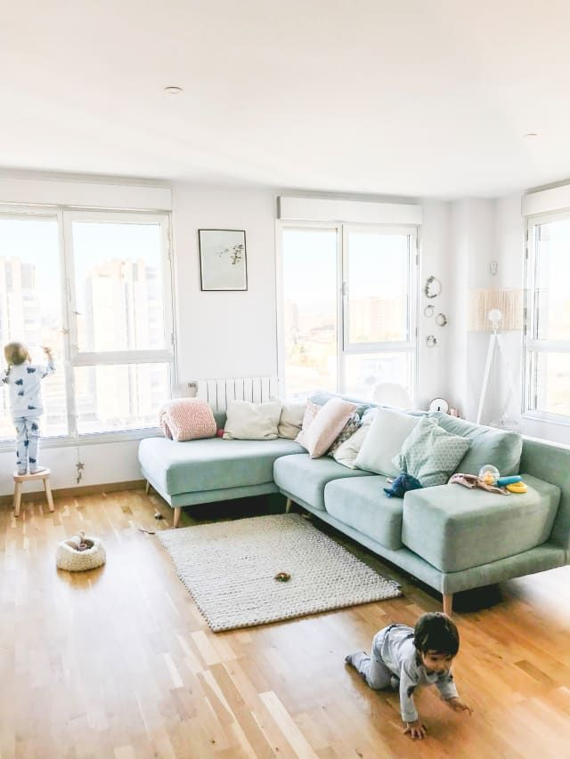 This Bright Spanish Home Is Nordic Style Pastel Perfection Spanish Living Room Bright Living Room Home