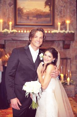 Jared Padalecki and Genevieve Padalecki--- No WAY! The girl from Wildfire married the hunk from Supernatural? Mind blown.