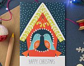 Love Birds Christmas Card