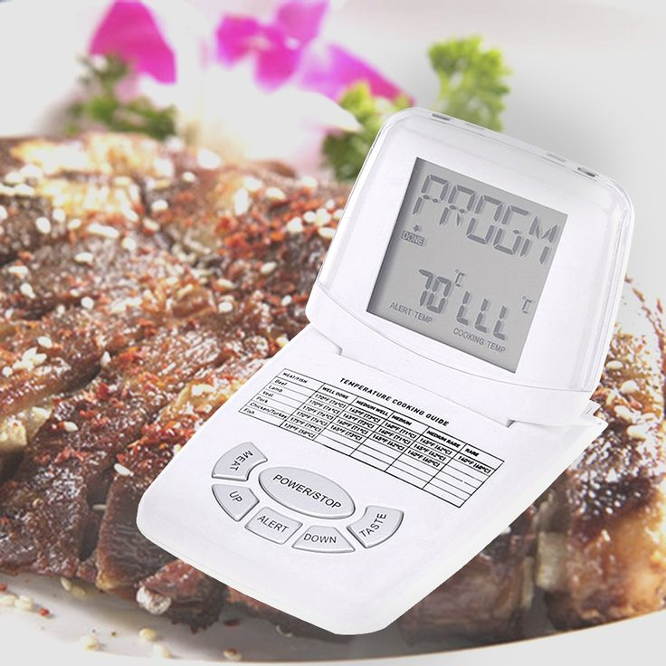 LCD Digital Kitchen Thermometer Folding Roasting Meat BBQ Thermometers 250 Degree Temperature Measurement. Yesterday's price: US $15.20 (12.61 EUR). Today's price: US $10.79 (8.84 EUR). Discount: 29%.