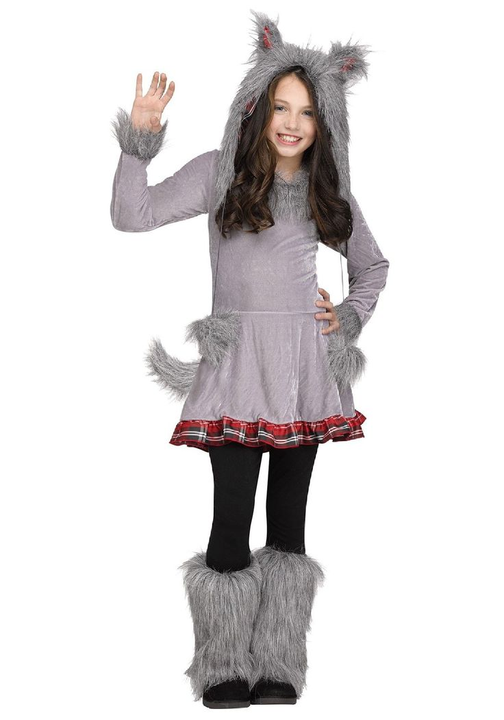 Amazon.com: Fun World girls Girl's Wolf Cub Costume: Clothing