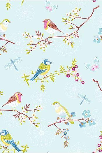 PiP Early Bird Blue Wallpaper