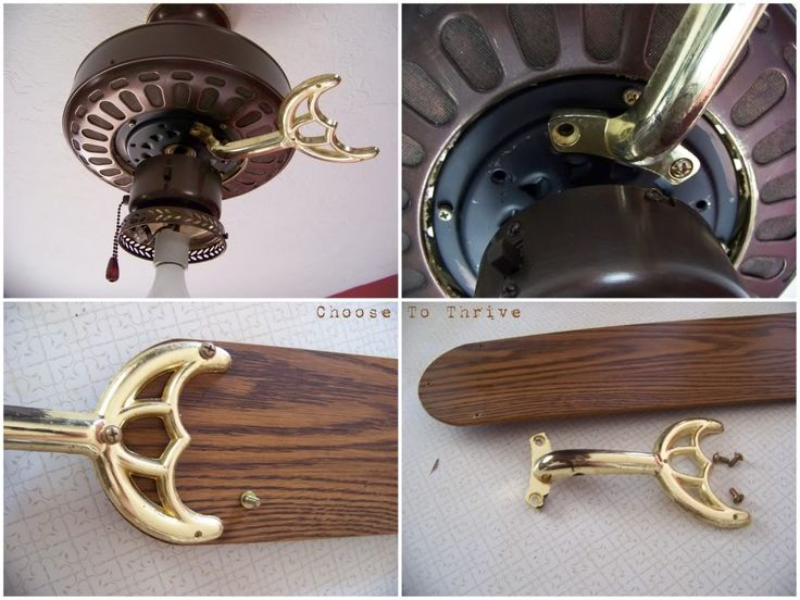Get rid of Brass fixtures! Tutorial on how to paint ceiling fans and get rid of the ugly brass.