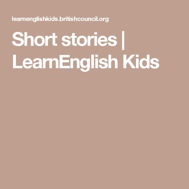 Short stories | LearnEnglish Kids