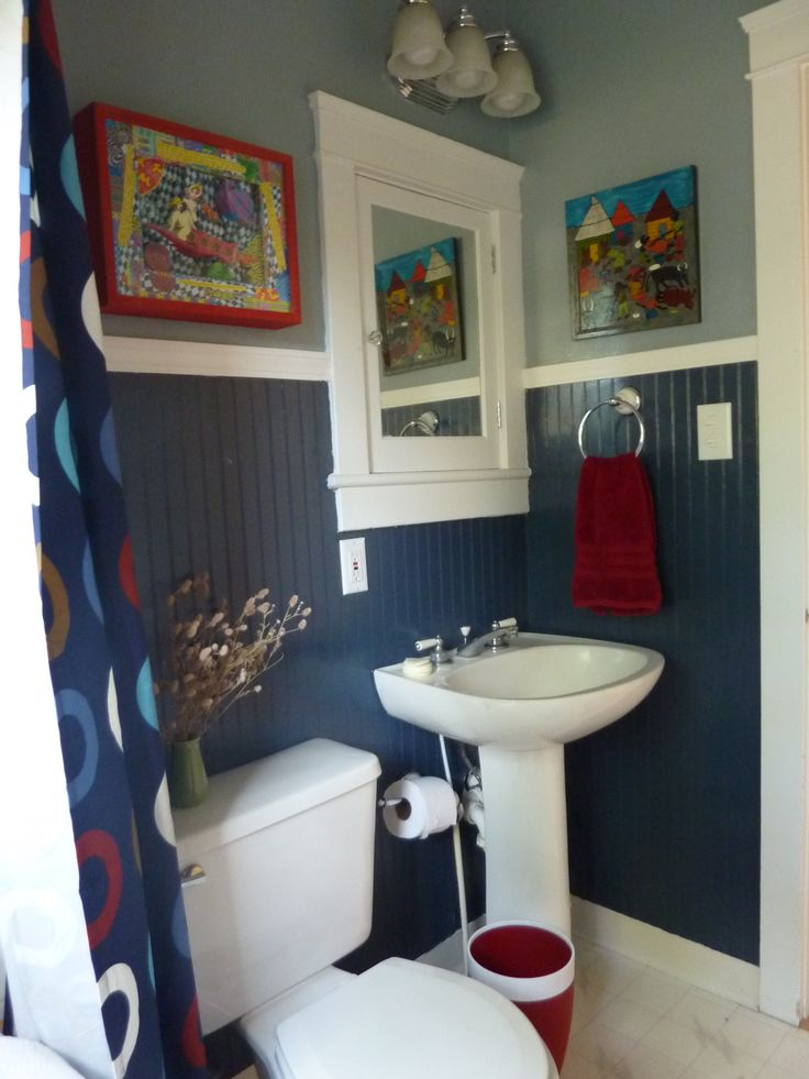 Modern Bathroom Bathrooms Colors With Dark Blue