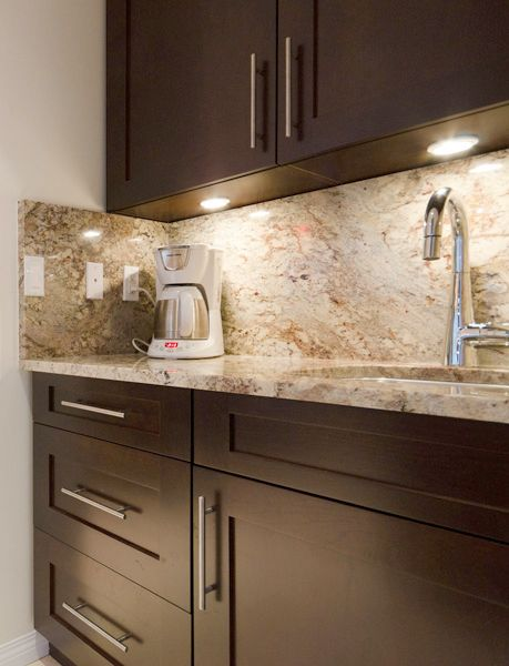 kitchen counter lighting cabinet door replacements cherry wood :: coffee station #kitchen #cabinets #coffee ...