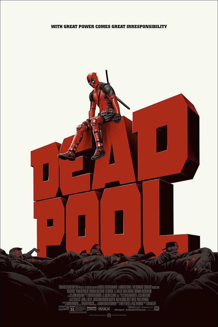 Deadpool by Phantom City Creative - Home of the Alternative Movie Poster -AMP-