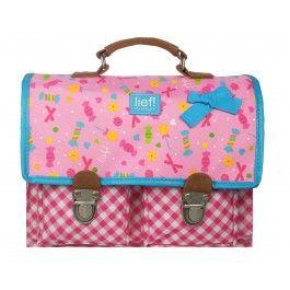 kindertas lief! sweets & treats. Hier passen al je school spulletjes in.