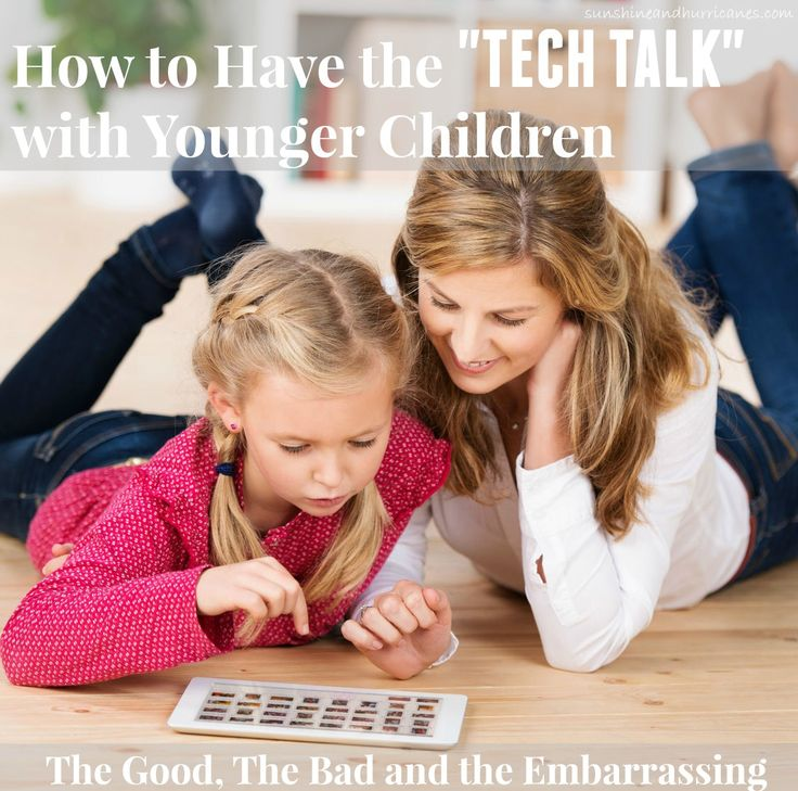 Making sure our kids know how to be safe & responsible online is our jobs. That is why parents must know how to talk about technology with younger children.