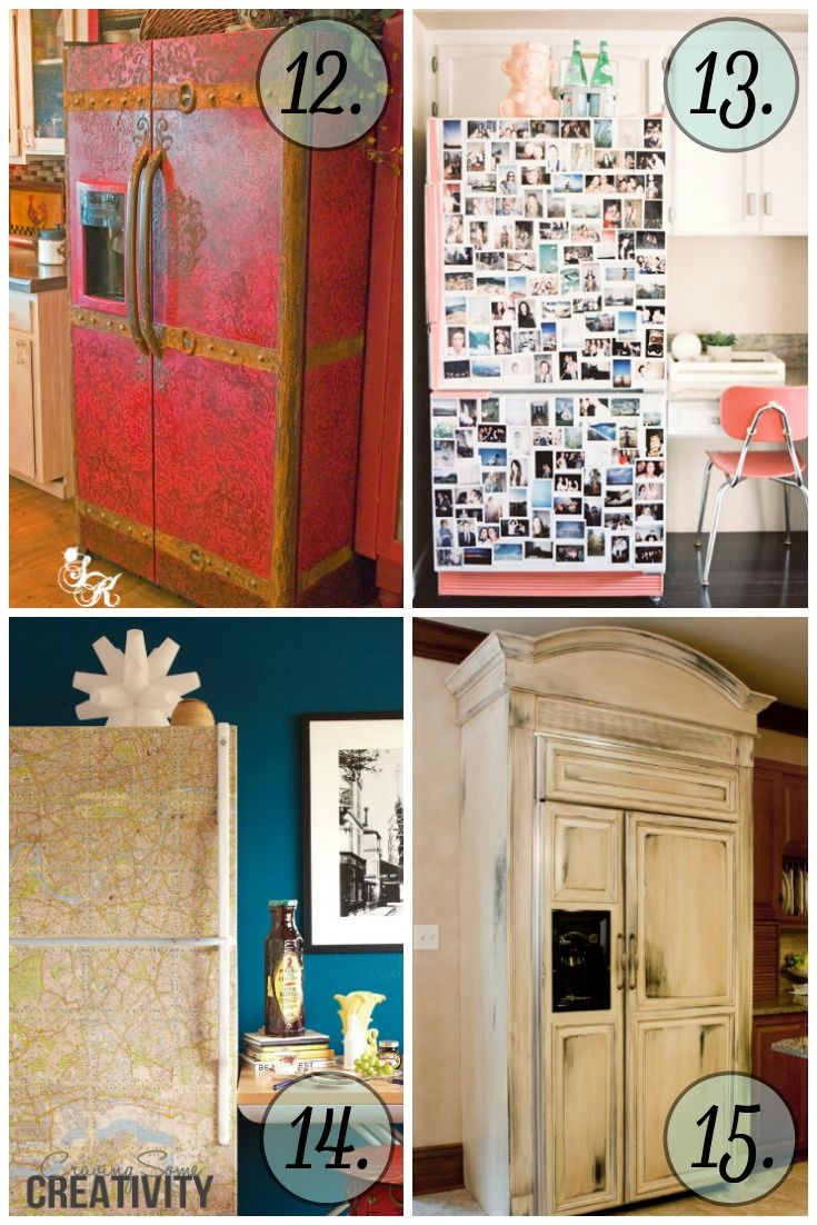 These refrigerator makeovers are INCREDIBLE! I can't wait to try one of them!