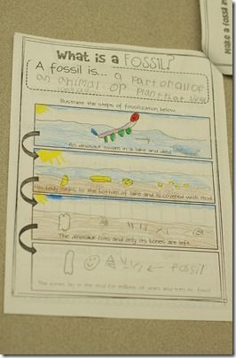 Fossilization book from theinspiredapple.com Tons of lesson ideas, activities for the first days of school, and printables, printables, printables.