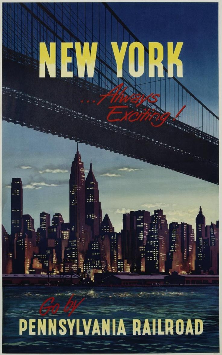 Nueva Yorker cubierta arte vintage