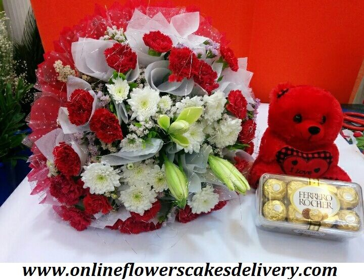 Buy and Send Carnations Flowers Online from ofcd  with Free Shipping, Express Delivery, Same Day Delivery! Carnation Flower Delivery in India.  #India #Indiaflorist #Samedayflowersdelivery #Samedaycakesdelivery #Carnationsflowers #Redcarnation #Freshcarnation #Redteddy #Ferrerorocher #Chocolate URL :- www.onlineflowerscakesdelivery.com