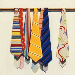 Wayne Thiebaud  American, born 1920, Row of Ties 1969