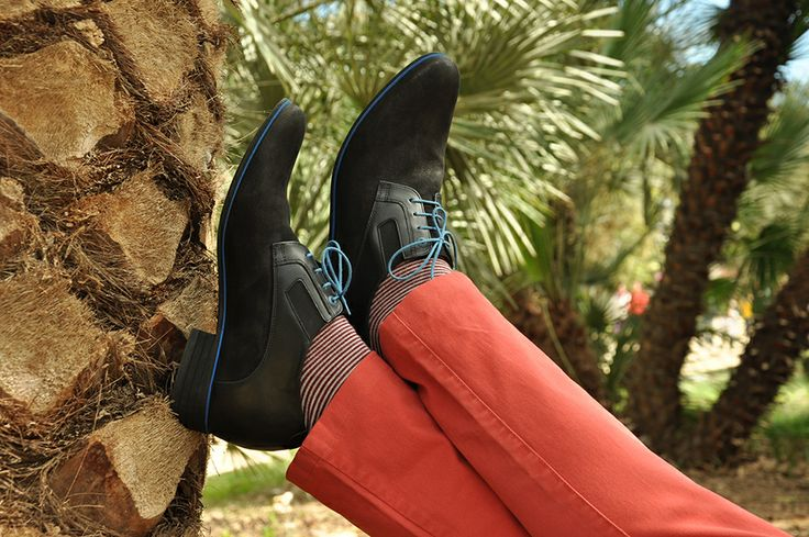 #Betelli height increasing #men's #shoes under palm trees in Barcelona