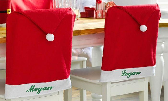 Monogram Online: Custom Santa Chair Covers from Monogram Online