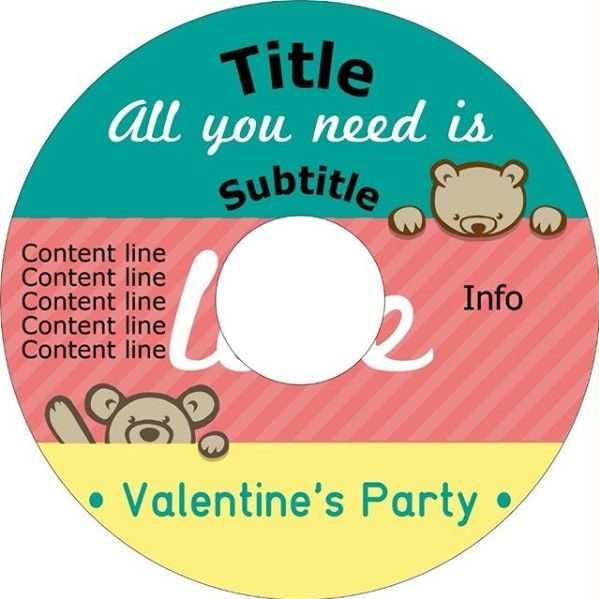 Happy Valentine\u0027s Day! Create CD label with songs for party using - create cd labels
