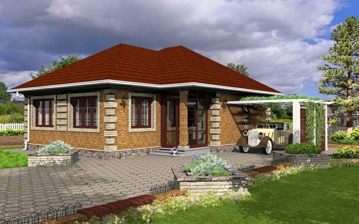 House with brick veneer 3D Model - Created by Michael Pechkurov using TurboFloorPlan 3D Home & Landscape Pro v16 | #home #landscape #design #3D #rendering #CAD