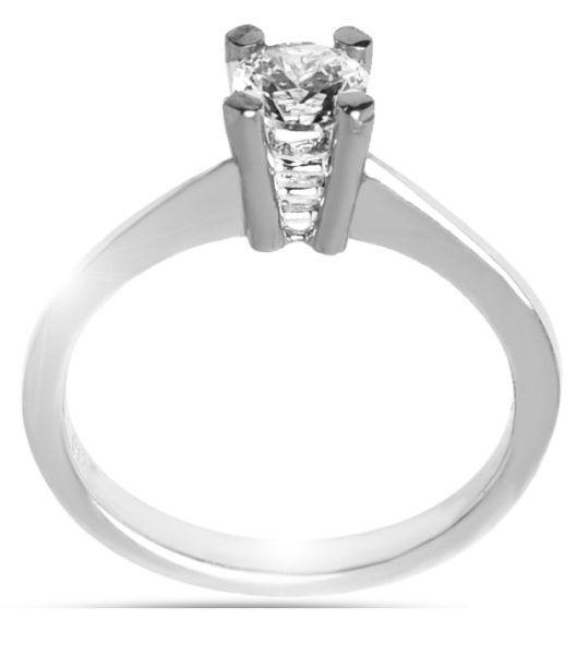 Μονόπετρο δαχτυλίδι Κ18 λευκόχρυσο διαμάντι DL039