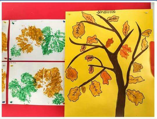 Seasons Tree Craft Ideas For Preschoolers Rainbow And Idea Christmas Foam Kids Art Activity Preschool