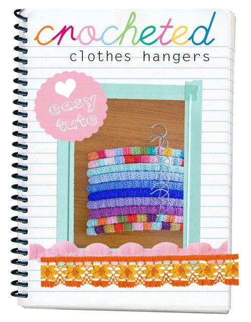 crochet coat hanger cover tutorial