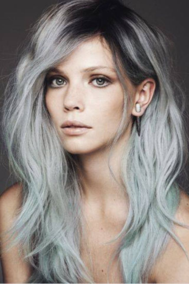 Balayage Hair in pastel colours