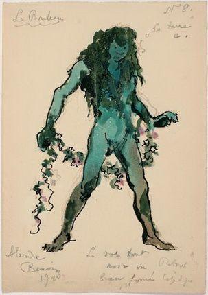 Бенуа Александр Николаевич Дерево, 1940 Эскиз костюма для балета К. Константинова Березка, 1940 г.