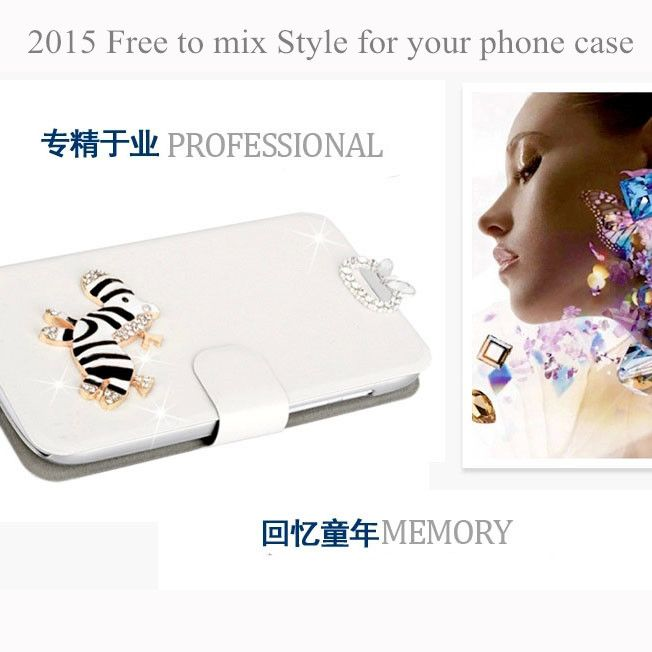 Hot selling case for Samsung Galaxy Note 2 n7100 7100 phone case free to mix diamond buckle with a variety of ways