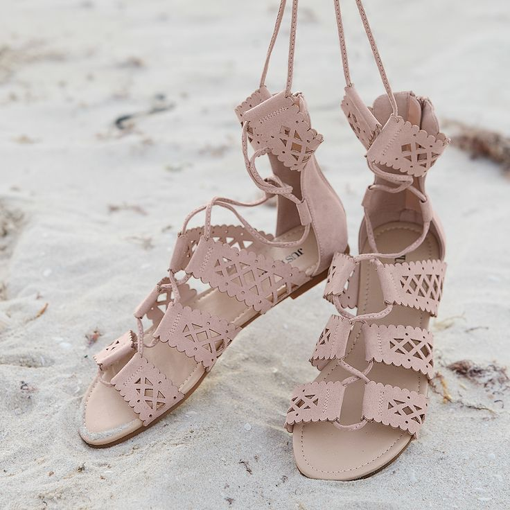 The Summer Gladiator Sandal's geometrically perforated ...