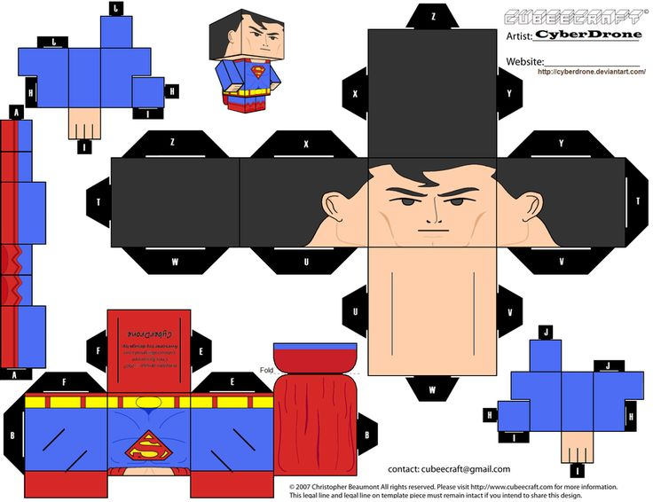 Cubee - Superman 'Justice League' by CyberDrone.deviantart.com on @deviantART