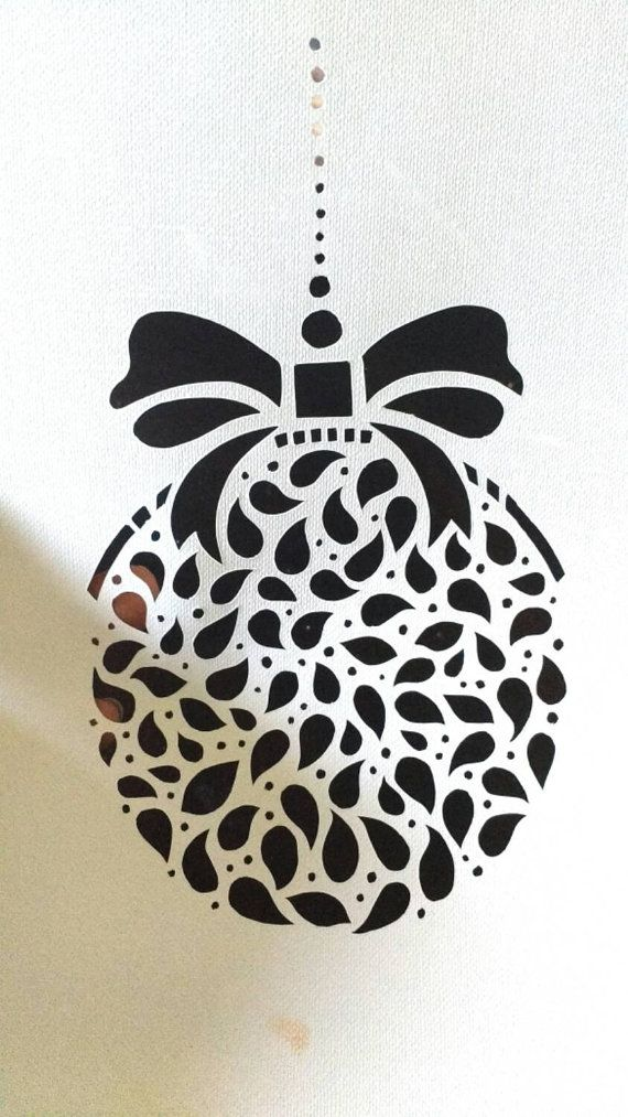 Christmas Ornament DIY Papercut Template