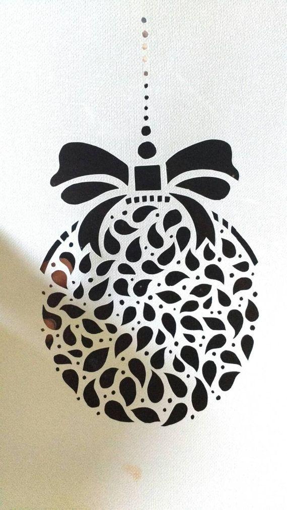 Christmas Ornament DIY Papercut Template by HandmadezbyAgnisha