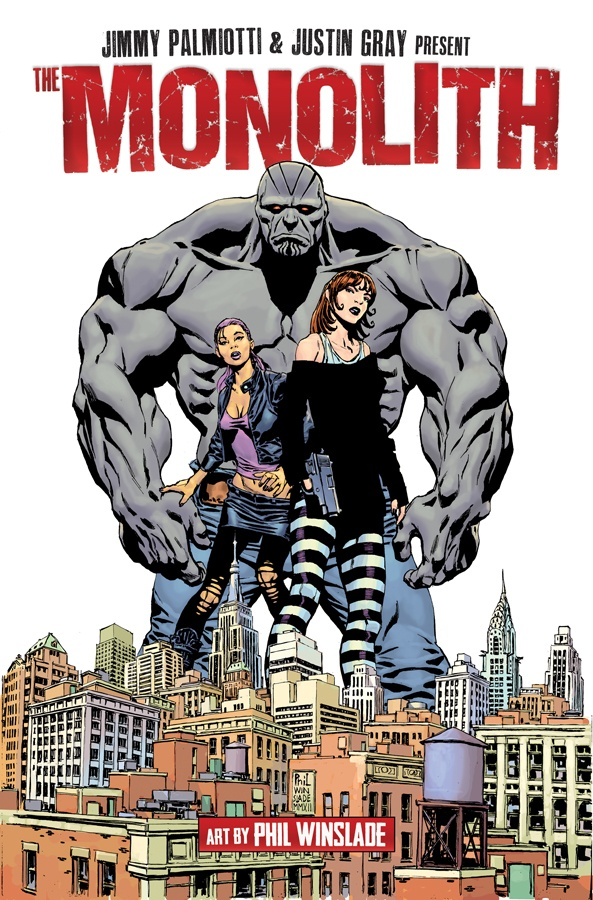 Cover image to THE MONOLITH vol. 1 coming in JULY from Image Comics.