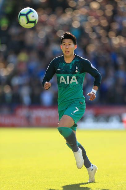 467e3f593 Son HeungMin of Spurs in action during the Premier League match between Huddersfield  Town and Tottenham Hotspur at the John Smith s Stadium on.