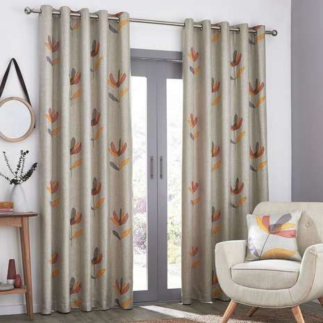 Available in a choice of sizes these colourful Blomma curtains feature a contemporary floral applique, are fully lined and complete with a modern eyelet header...