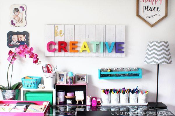 Handwerksraum / Home Office Tour & Makeover Reveal   – Craft Room