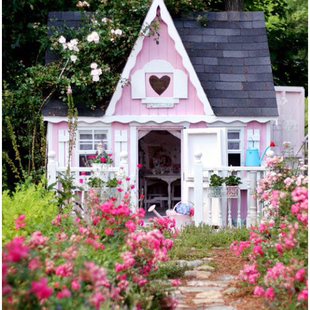 Pink Garden Shed