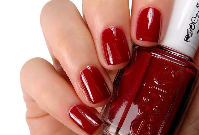 Essie - Twin sweater set might just be the perfect red!