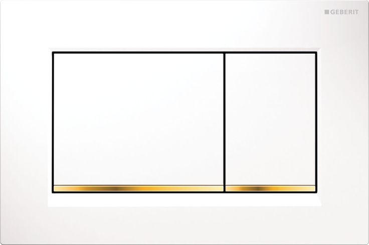 Geberit Sigma30: 6 farklı renk seçeneği ve çift kademeli deşarj ile su tasarrufu sağlayan kumanda kapağı. Pisuvarlar için kumanda kapağı modeli de mevcuttur.