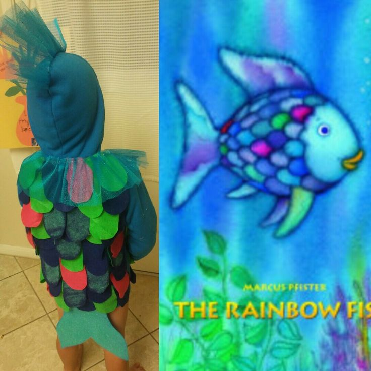 Diy Rainbow fish costume                                                                                                                                                                                 More