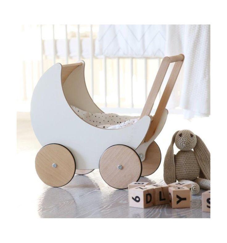 Ooh noo houten poppenwagen wit