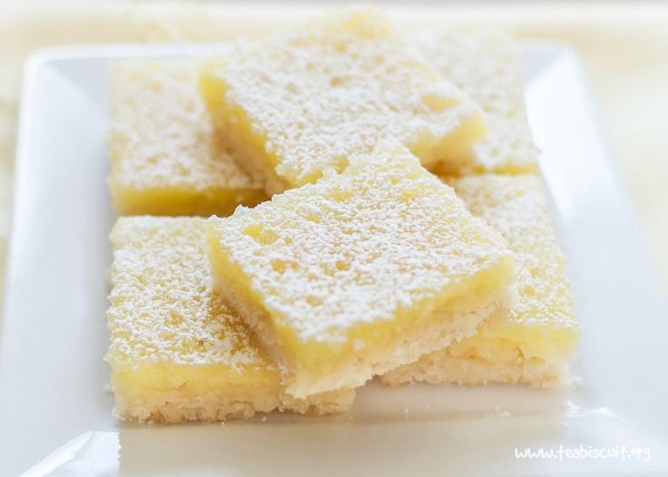 A delicious Dairy Free and Gluten Free lemon bars recipe with the best shortbread base. They're the tastiest gluten free dessert bars you'll ever try! |Lemon Squares |